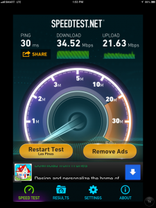 Speedtest was done inside Power Plant Mall