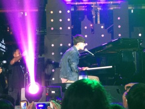 International singing sensation Greyson Chance performing his version of Radiohead's High and Dry
