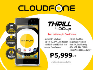 CloudFone Thrill 400qx Product Sheet