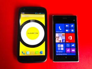 Size comparison with the Nokia Lumia 925