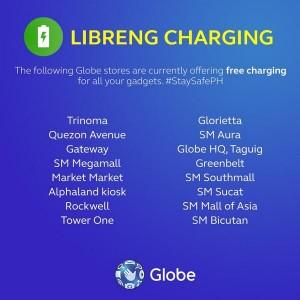 Globe Free Phone Charging