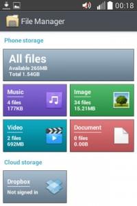 LG L40 File Manager