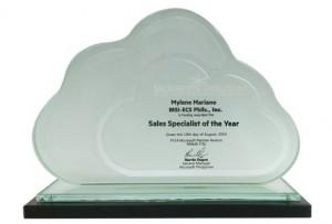 MSI-ECS Microsoft Sales Specialist of the Year - Mylene Mariano