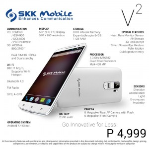 SKK Mobile V2 Specs