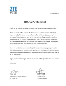 2014-10-29-official statement