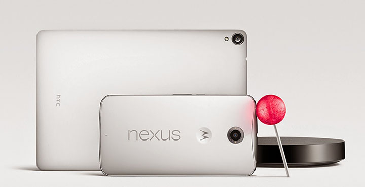 Nexus Family with Android Lollipop