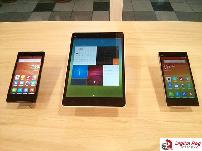 The Redmi 1S, the MiPad, and the Mi3