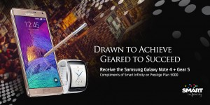 Samsung Galaxy Note 4 with Smart Infinity