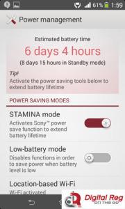 Xperia E1 - Power Management
