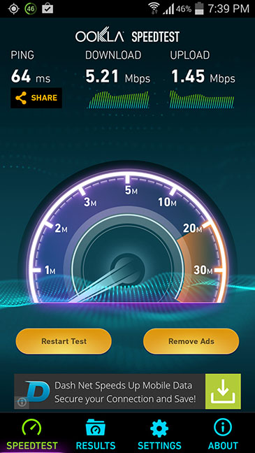 Ultra On The Go Speed Test