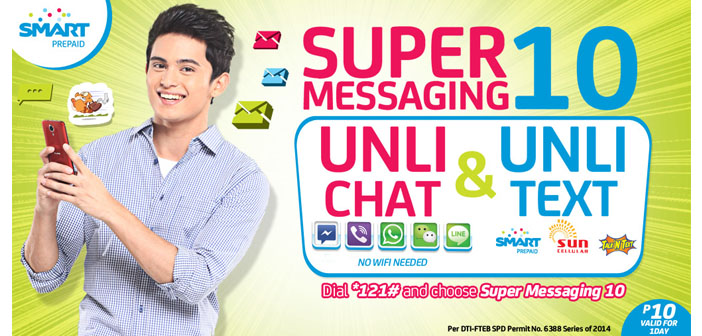 Enjoy Unli-Chat and Unli-Text with Smart's Super Messaging 10