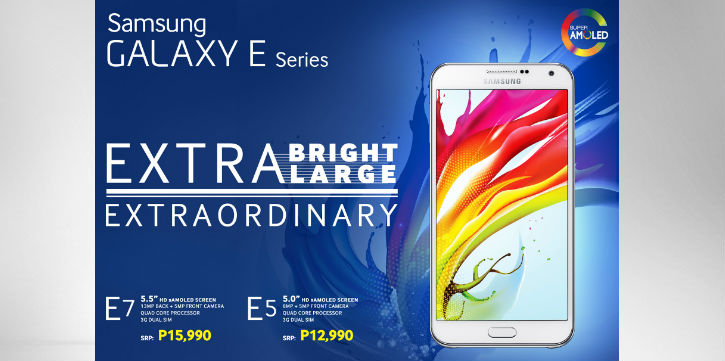 Experience the Samsung Galaxy E with a Free Battery Pack in this WEEKEND ONLY Sale
