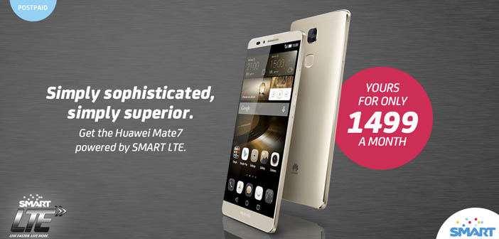 Huawei Mate 7 Now Available with Smart Postpaid Plans