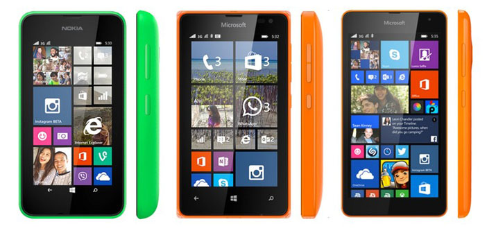 Get a Microsoft Lumia 535 with Sun Plan 499