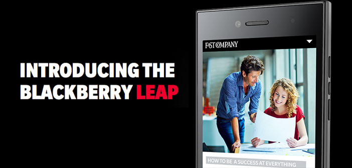 Introducing the BlackBerry Leap