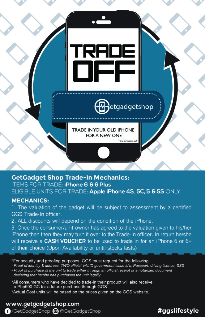 Trade Your old iPhone 4, 5, and 5c for an iPhone 6 at GetGadget Shops Trade Off Promo!