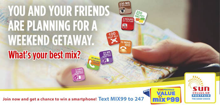 Win a New Smartphone with Sun's Value Mix 99