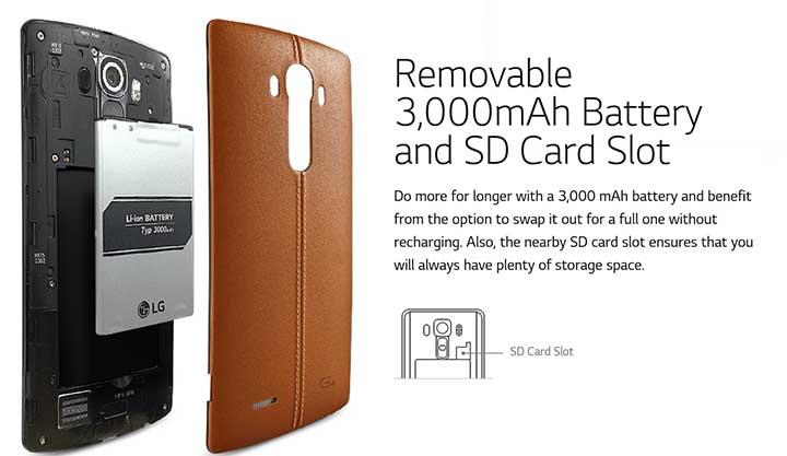 LG G4 Removable Camera