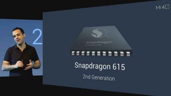 VP for Xiaomi Global Hugo Barra explains the 2nd Generation Snapdraon 615 chipset. Screenshot taken from the Mi Livestream.
