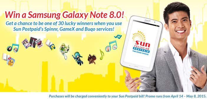 Win a Samsung Galaxy Note 8 with Sun Postpaid