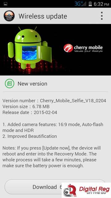 cherry mobile selfie - update