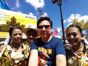 with Sinulog participants. Photo taken with my Asus Zenfone Max