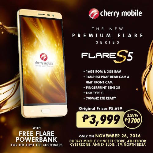 Cherry Mobile Flare S5 For Only P3 999 Dr On The Go