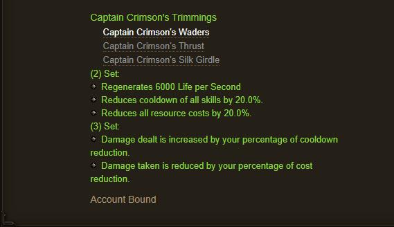 Captain Crimson's Trimmings - full set bonus