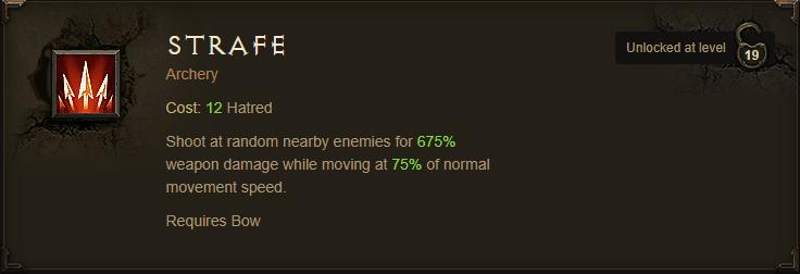 Demon Hunter Archery Skill - Strafe