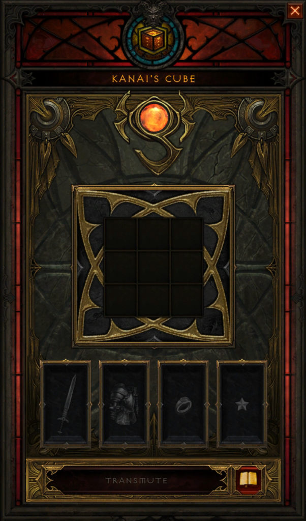 shades of the nephalem Kanai's Cube 4 slots